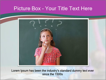 Girl raising hand in classroom PowerPoint Templates - Slide 16