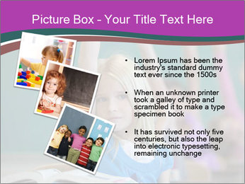 Girl raising hand in classroom PowerPoint Templates - Slide 17