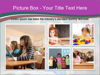 Girl raising hand in classroom PowerPoint Templates - Slide 19