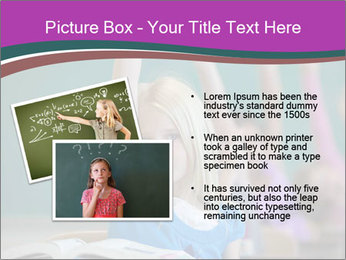 Girl raising hand in classroom PowerPoint Templates - Slide 20