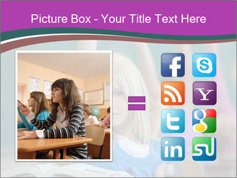 Girl raising hand in classroom PowerPoint Templates - Slide 21