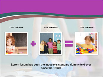 Girl raising hand in classroom PowerPoint Templates - Slide 22