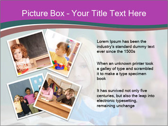 Girl raising hand in classroom PowerPoint Templates - Slide 23