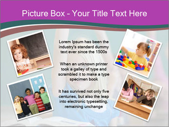 Girl raising hand in classroom PowerPoint Templates - Slide 24