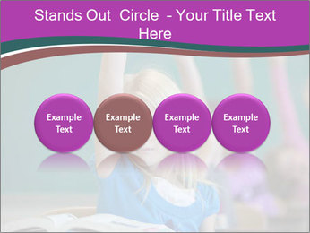 Girl raising hand in classroom PowerPoint Templates - Slide 76