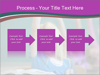Girl raising hand in classroom PowerPoint Templates - Slide 88