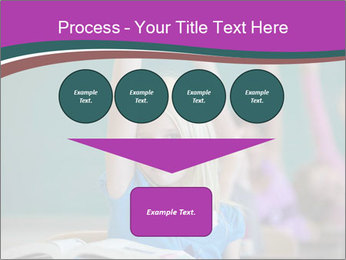 Girl raising hand in classroom PowerPoint Templates - Slide 93