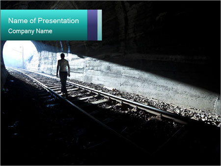 Exit from darknes PowerPoint Templates