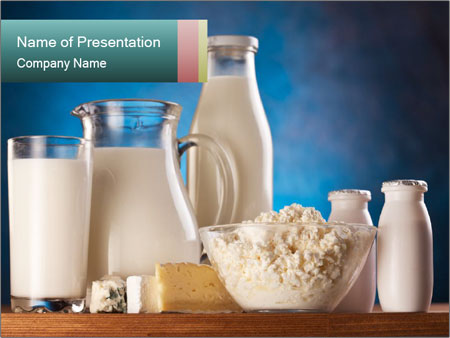Different milk products PowerPoint Template
