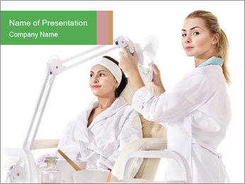 Massage table in beauty spa PowerPoint Template - Slide 1