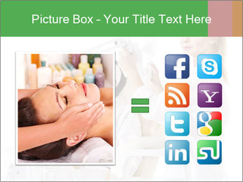 Massage table in beauty spa PowerPoint Template - Slide 21