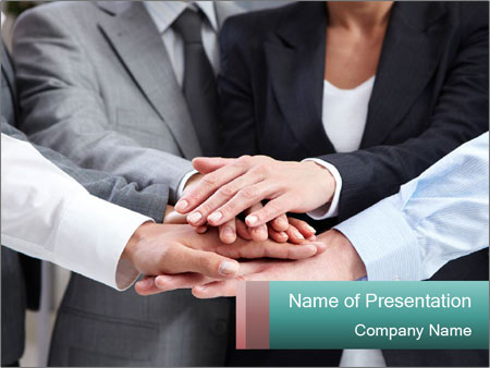 Business people hands PowerPoint Templates