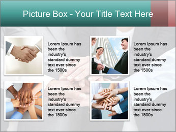 Business people hands PowerPoint Template - Slide 14