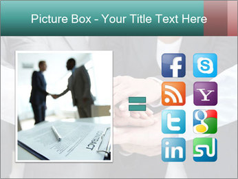 Business people hands PowerPoint Template - Slide 21