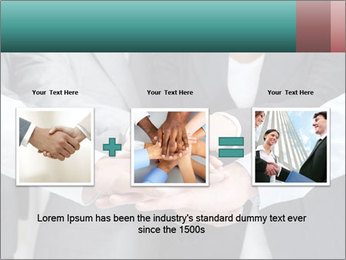 Business people hands PowerPoint Template - Slide 22