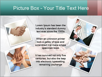 Business people hands PowerPoint Template - Slide 24