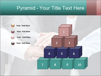 Business people hands PowerPoint Template - Slide 31