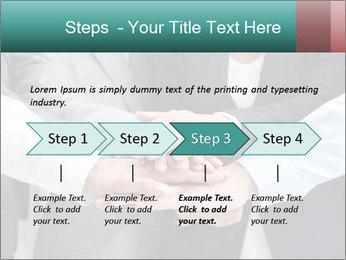 Business people hands PowerPoint Template - Slide 4