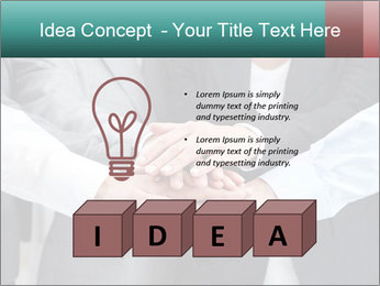 Business people hands PowerPoint Template - Slide 80