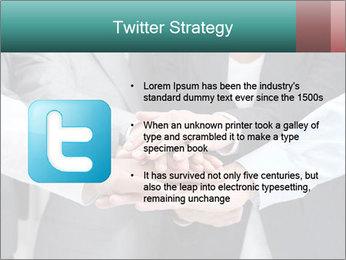 Business people hands PowerPoint Template - Slide 9