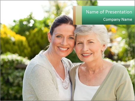 Mother with her daughter PowerPoint Template