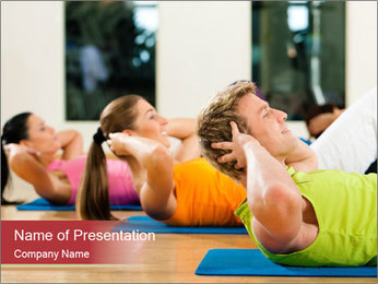 Fitness club PowerPoint Templates - Slide 1