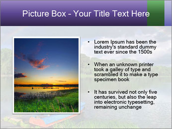 Rainbow over the lake PowerPoint Template - Slide 13