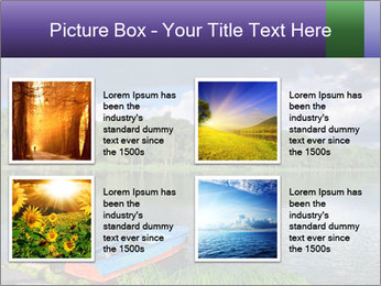 Rainbow over the lake PowerPoint Template - Slide 14