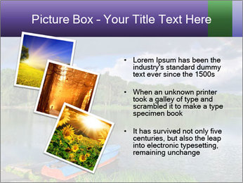 Rainbow over the lake PowerPoint Template - Slide 17