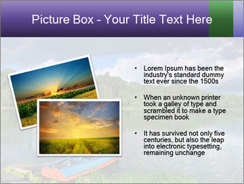 Rainbow over the lake PowerPoint Template - Slide 20