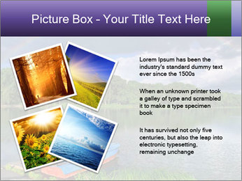Rainbow over the lake PowerPoint Template - Slide 23