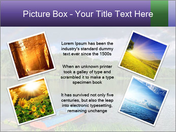 Rainbow over the lake PowerPoint Template - Slide 24