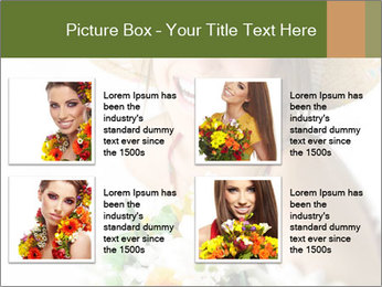 Woman with bouquet PowerPoint Templates - Slide 14