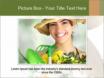 Woman with bouquet PowerPoint Templates - Slide 15