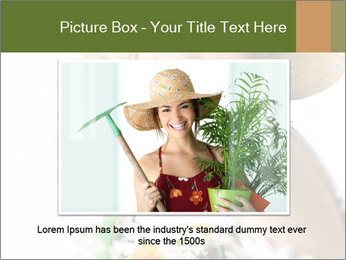 Woman with bouquet PowerPoint Templates - Slide 16