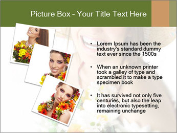 Woman with bouquet PowerPoint Templates - Slide 17
