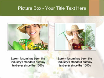 Woman with bouquet PowerPoint Templates - Slide 18