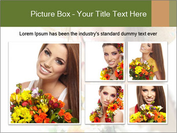 Woman with bouquet PowerPoint Templates - Slide 19
