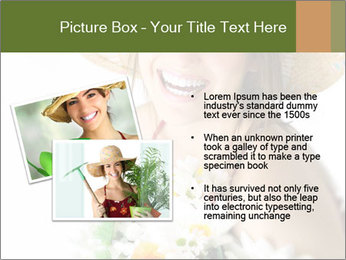 Woman with bouquet PowerPoint Templates - Slide 20