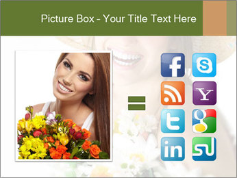 Woman with bouquet PowerPoint Templates - Slide 21