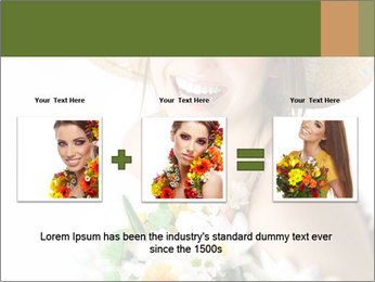 Woman with bouquet PowerPoint Templates - Slide 22