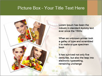 Woman with bouquet PowerPoint Templates - Slide 23