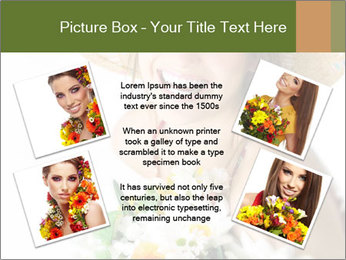 Woman with bouquet PowerPoint Templates - Slide 24