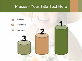 Woman with bouquet PowerPoint Templates - Slide 65