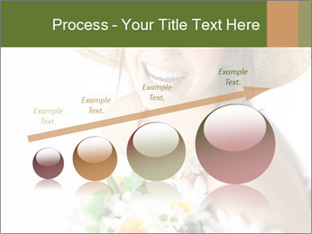 Woman with bouquet PowerPoint Templates - Slide 87