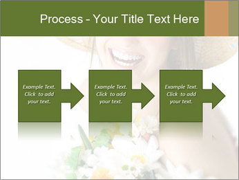 Woman with bouquet PowerPoint Templates - Slide 88