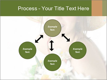 Woman with bouquet PowerPoint Templates - Slide 91