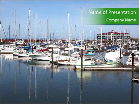 Marina in Astoria Oregon PowerPoint Templates