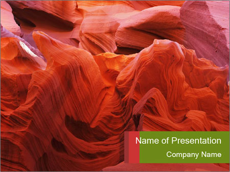 Fiery color in the stone PowerPoint Template