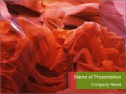 Fiery color in the stone PowerPoint Templates